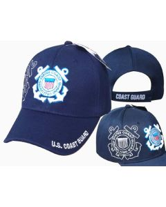 United States Coast Guard Hat Logo w/Shadow -CAP605S