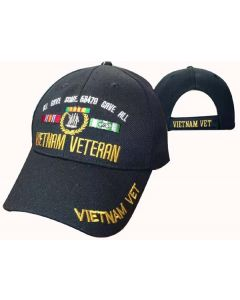 United States Vietnam Veteran Gave All Hat-BK CAP607BA