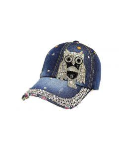 Cap - Rhinestone - 18434 Owl