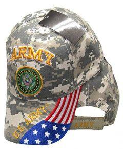 United States Army Hat Digital Seal Logo/USA Flag Bill CAP601GC