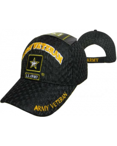 "United States Army Military Hat ""ARMY VETERAN"" Star/Mesh CAP591H"