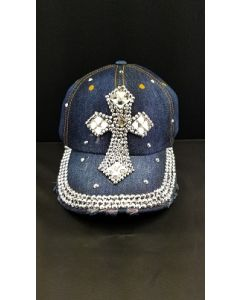 Rhinestone Hat  -  Cross 4 Diamond - New Design