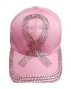 Rhinestone Hat  - Pink Ribbon - 18516