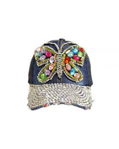 Cap Rhinestone Butterfly Gems 18443
