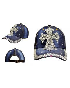 Rhinestone Hat - Big Cross 18392