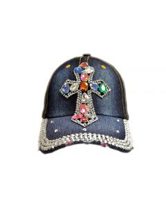 Rhinestone Hat - Big Cross - Color 18395