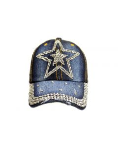 Cap Rhinestone Double Star 18467