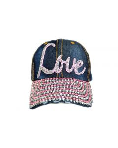Rhinestone Hat  -  Love Denim - 18477