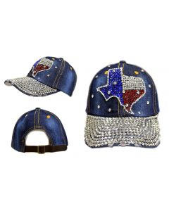 Rhinestone Hat - State of Texas 18419