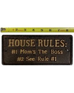 "Texas Decor - Cast Iron ""Mom/Boss"" Plaque G013"