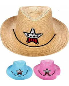 Kids Cowboy Hat w/Sparkle Star SOLD BY THE DOZEN