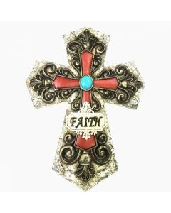 Texas Decor - Poly Faith Cross C60326