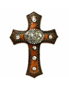 Texas Decor - Poly Praying Cowboy Cross XF-R0012