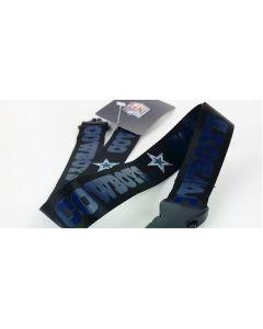 NFL Dallas Cowboys - Black Lanyard(BLUE TEXT)