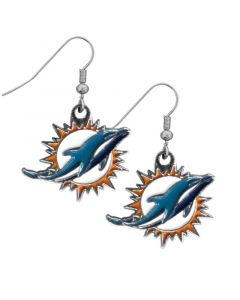 NFL Miami Dolphins Earring Dangle Logo