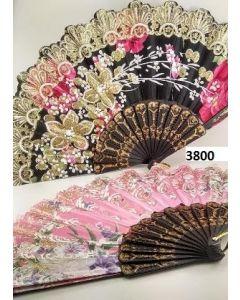Fan 3800 Flower/Glitter SOLD BY THE DOZEN