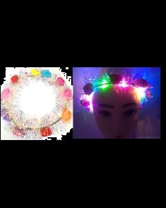 Fiesta LED Headband w/Iridescent Fringe SOLD BY THE DOZEN