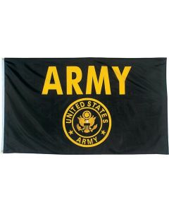Flag - United States Army Gold & Black 3X5
