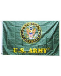 Flag - United States Army Seal Green 3x5 FLG601C