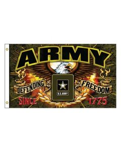 Flag - U.S. Army Freedom Fighter 3X5(BK Text)