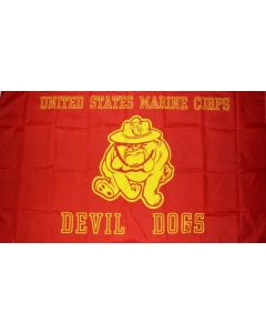 Flag - Marine Devil Dog 1420 3X5