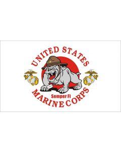 Flag - Marine Mascot 3X5