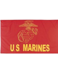 "Flag - ""U.S. Marine"" Red 2428 3X5"