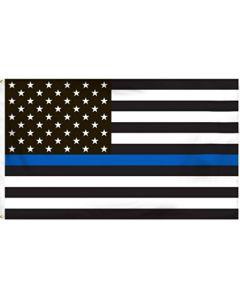 Flag - USA Blue Line - Police 3X5