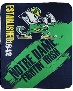 NCAA Notre Dame Fleece Throw Blanket