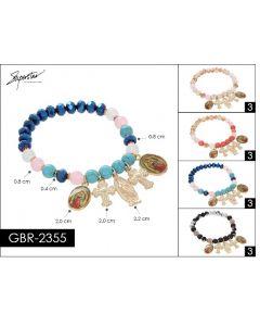 Bracelet - Guadalupe Charm GBR-2355 SOLD BY DOZEN
