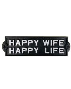 Texas Decor - Cast Iron Happy Wife G103