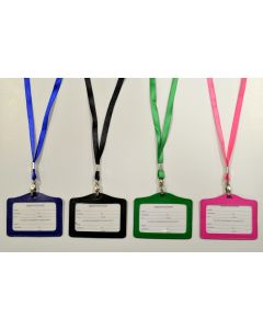 ID Holder 67741 Assorted Color Horizontal Lanyard SOLD BY DOZEN