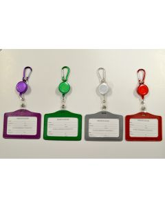 ID Holder 67808 Asst. Color Horizontal ID Holder Pull String SOLD BY DOZEN