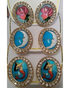 Fashion - Jewelry - Loteria Earring ERG-8810 SOLD BY THE DOZEN