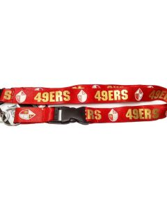NFL San Francisco 49ers Lanyard - Red Throwback