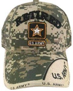 United States Army Military Hat Retired w/Star - Digi Camo
