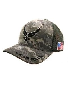 United States Air Force Military Hat Wings Logo - Digital Camo Mesh Back