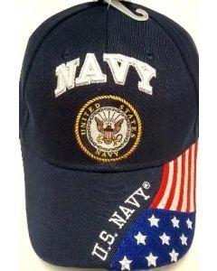 United States Navy Military Hat Seal Logo/USA Flag Bill CAP602G