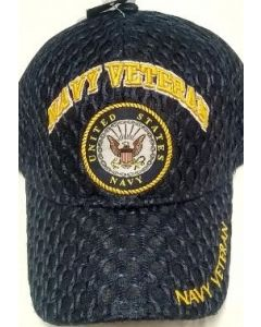 "United States Navy Military Hat ""NAVY VETERAN"" Seal/Mesh CAP592H"