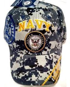 "Unites States Navy Military Hat ""NAVY"" Digital w/Seal (YellowText) CAP602TC"
