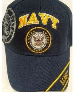"Unites States Navy Military Hat ""NAVY"" w/Seal (YellowText) CAP602T"