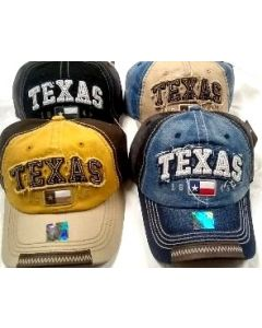 Cap - Washed Cotton - Texas Flag(Two-Tone)