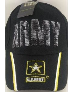 United States Army Hat Back Stitch Embroid. Star Logo. CAP595C