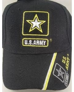 United States Army Hat With Double Star Logo - BK CAP601L