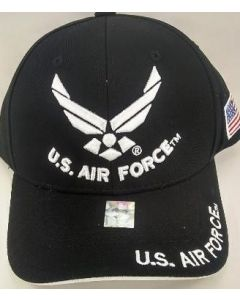 United States Air Force Hat - U.S. Air Force White Wings - Black A04AIA03