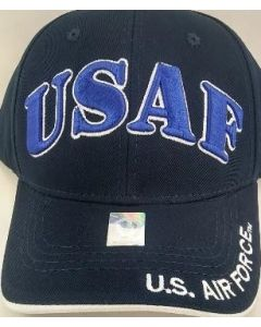 "United States Air Force Military Hat ""USAF"" Royal Blue Text A04AIA01-NV/WHT"