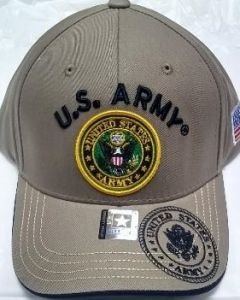 United States Army Seal Hat - Khaki A04ARM06 KHK/BK