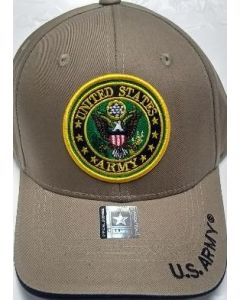 United States Army Hat With Seal - Khaki A04ARM05 KHK/BK