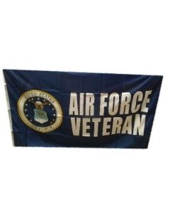 Flag - United States Air Force Veteran-02 w/Seal 1712 3X5
