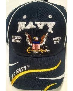 United States Navy Hat Defending Freedom w/Logo CAP596E